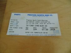 Preston North End v Burnley, 1997/98 [tkt]